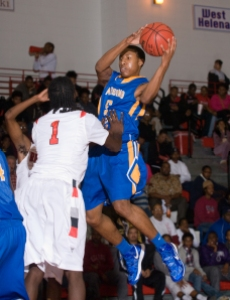 Although only a sophomore, Allen is already one of the state's best guards.